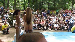 Nudist, Amateur, American, Beach, Fight, Nudist