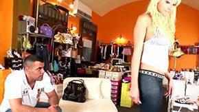 Sabrina Love, Ball Licking, Banana, Blonde, Blowjob, Cameltoe