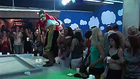 Male Stripper, Blonde, Brunette, CFNM, High Definition, Horny