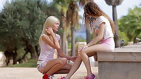 Izzy Delphine, Babe, Blonde, Curly, Cute, European