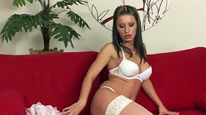Katerina Hovorkova HD porn tube White pantyhose are making Katerina Hovorkova look even more as she is widening legs to show off her slippery meat