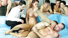 Free Bisexual HD porn Bi outdoors orgy with handjob