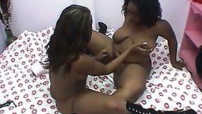 Lesbian Dildo, Babe, Big Pussy, Black, Black Lesbian, Brunette