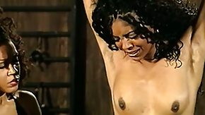 Free Black Lesbian HD porn Four masters for this one slave, they utter reward her with pain