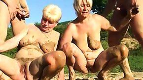 Mud, Blonde, Cumshot, Experienced, Grandma, Grandmother