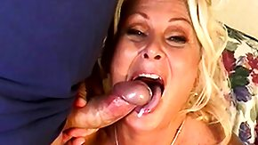 Chubby Hairy, BBW, Big Black Cock, Blonde, Blowjob, Bukkake