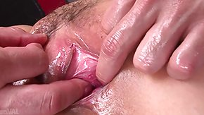Uncensored HD porn tube oiled up milf gathers fingered
