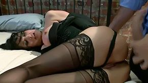 Pantyhose, American, Assfucking, Aunt, Babe, Bed