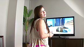 HD Scarlett Rose Sex Tube Scarlett Rose's Video Game: Stepbrother's Cock