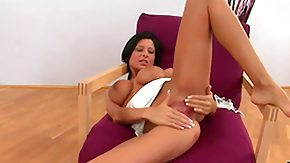 Free Allison Star HD porn Stunning brunette Alison teases to boot fingers her wet pink