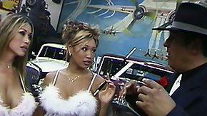 Kianna HD porn tube Bosomy Chinese chicks Kianna and Miko go down on a well-endowed stud