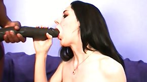Monster Cock, Big Black Cock, Big Cock, Black, Blowjob, Brunette