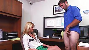 Handjobs, Babe, Blonde, CFNM, Handjob, Office