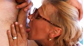 Mature Glasses, Amateur, Blonde, Blowjob, Glasses, Hardcore