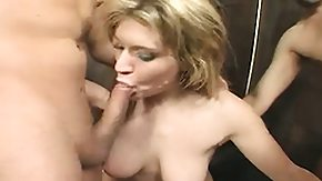 Brandon Iron, Blonde, Blowjob, Bukkake, Group, Hardcore