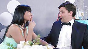 Wedding, Bride, Brunette, Fucking, Handjob, Married