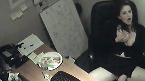 HD Hidden Masturbation tube Arousing receptionist gets caught masturbating enclosed by the office by a hidden cam