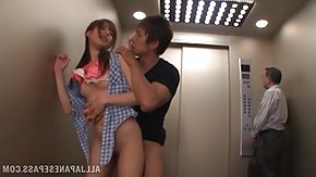 Elevator HD porn tube fucked shamelessly in the elevator