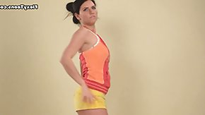Acrobatic, Acrobatic, Athletic, Brunette, Flexible, Gym
