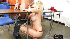 Angela Attison, Big Tits, Blonde, Boobs, Classroom, Desk