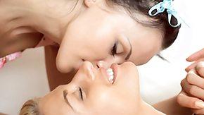 Lesbian Seduction, Blonde, Boobs, Brunette, Dildo, Flat Chested