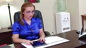 Katja Kassin, Blonde, Desk, Lick, MILF, Office