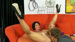 Free High Heels HD porn videos Experienced short-haired brunette MILF Shay Fox with big milk sacks constricted body spread her long hot legs in the midst of high heels gets her pierced minge licked