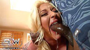 Choking, Babe, Big Black Cock, Big Cock, Big Tits, Blonde