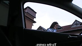 Publicagent, Amateur, Brunette, Car, Cash, Cumshot