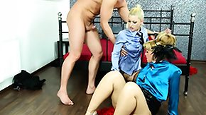 Peeing, 3some, Babe, Blonde, Blowjob, Costume