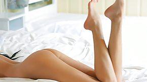 Closeup, Babe, Bed, Bedroom, Brunette, Close Up