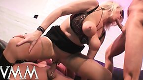 Bus, 3some, Big Tits, Blonde, Blowjob, Boobs