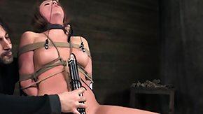 Clamps, BDSM, Bound, Brunette, Fetish, High Definition