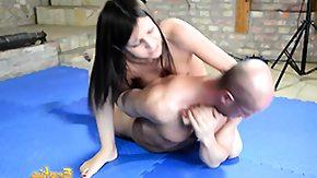 Wrestling, BDSM, Brunette, CFNM, Dominatrix, European