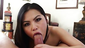 Face Fucked, Asian, Big Cock, Blowjob, Brunette, Fucking