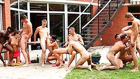 Bisexual, Bisexual, Blowjob, Brunette, Gangbang, Interracial