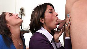 Instructions, 3some, Blowjob, Brunette, Cougar, Group