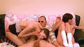 Girls Do Porn, 3some, 4some, Ball Licking, Blowjob, Brunette
