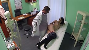 Voyeur, Brunette, Doctor, Female Ejaculation, Fingering, Hardcore