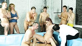 Ass Orgy, Bisexual, Gangbang, Hardcore, Small Tits