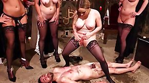 BDSM HD Sex Tube man ashamed and fucked by perverted witches