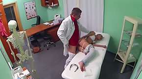 Free Doctor HD porn videos Hot Brunette Patient returns craving the doctors big cock