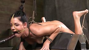 Bound, Basement, BDSM, Bound, Brunette, Hogtied