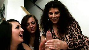 Voyeur, Babe, Brunette, CFNM, Dominatrix, European