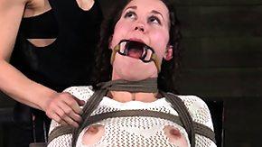 Lezdom, BDSM, Brunette, Choking, Fetish, Gagging