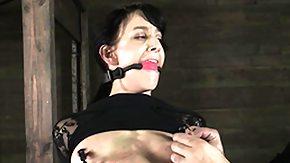 Clamps, BDSM, Brunette, Choking, Fetish, Gagging
