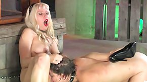 Dungeon, BDSM, Bend Over, Blonde, Chained, Clit