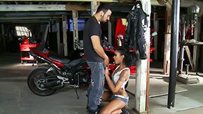 Free Biker HD porn Skin Diamond works at motorcycle repair shop because that sweetie loves bikers in the middle of much in the middle of that sweetie loves bikes When Voodoo comes to fix his bike that sweetie offers him her cunt
