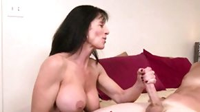 Handjob, Big Cock, Big Tits, Boobs, Brunette, Cougar