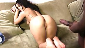 Interracial Orgasm, Brunette, Cumshot, Feet, Fetish, Fingering